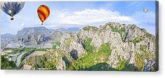 Grand Mountain And Farm  Acrylic Print by Anek Suwannaphoom