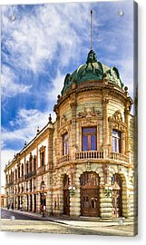 Grand Old Theater In The Heart Of Oaxaca Acrylic Print by Mark E Tisdale