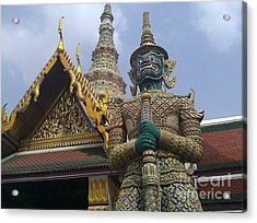 Grand Palace Thailand Acrylic Print by Ted Williams
