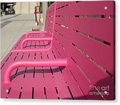 Grand Park Pink Acrylic Print