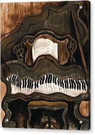 Tommervik Abstract Grand Piano Art Print Acrylic Print by Tommervik
