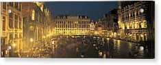 Grand Place Brussels Belgium Acrylic Print by Panoramic Images