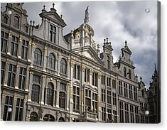 Grand Place Detail Acrylic Print by Joan Carroll