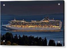 Grand Princess Acrylic Print by Ships in Split