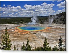 Grand Prismatic Hot Spring Acrylic Print
