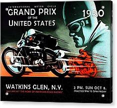 Grand Prix 1950 Acrylic Print by Mark Rogan