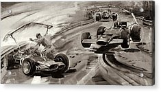 Grand Prix Problems Acrylic Print by Graham Coton
