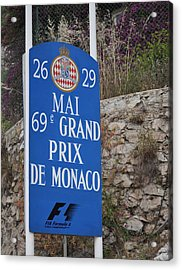 Grand Prix Sign Acrylic Print