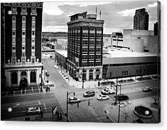 Grand Rapids 12 Black And White Acrylic Print