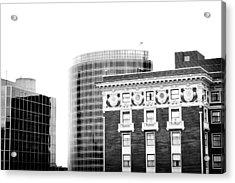 Grand Rapids 15 Black And White Acrylic Print