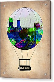 Grand Rapids Air Balloon Acrylic Print by Naxart Studio