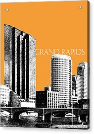 Grand Rapids Skyline - Orange Acrylic Print