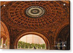 Grand Rotunda Pennsylvanian Pittsburgh Acrylic Print by Amy Cicconi