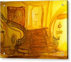 Grand Staircase And Tapestry Acrylic Print by Sandra Stone