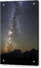 Grand Teton And The Milky Way Acrylic Print