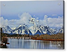 Grand Teton Acrylic Print by Leslie Kirk