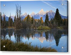 Acrylic Print featuring the photograph Grand Teton Morning Reflection by Sonya Lang