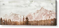 Acrylic Print featuring the painting Grand Teton Mountains by Greg Collins