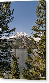 Grand Teton On Jenny Lake - Grand Teton National Park Wyoming Acrylic Print