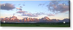 Grand Teton Sunrise Panorama Acrylic Print by Brian Harig