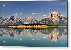 Acrylic Print featuring the photograph Grand Tetons by Geraldine Alexander