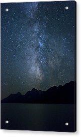 Grand Tetons Milky Way Acrylic Print by Michael J Bauer