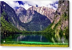 Grand Tetons National Park Painting Acrylic Print by Bob and Nadine Johnston
