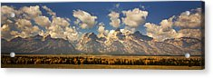 Acrylic Print featuring the photograph Grand Tetons by Sonya Lang