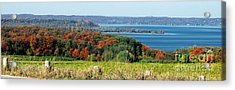 Grand Traverse Winery Lookout Acrylic Print by Optical Playground By MP Ray