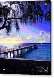 Grand Turk Sunset Acrylic Print