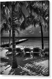 Grand Turk Vacation 002 Bw Acrylic Print