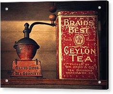 Grand Union Tea Company Acrylic Print by Maria Angelica Maira