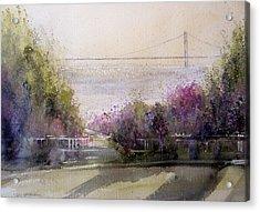 Grand View Mackinac Bridge Acrylic Print