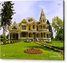 Acrylic Print featuring the photograph Grand Yellow Victorian by Becky Lupe