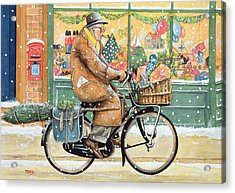 Grandad Is Coming For Christmas Acrylic Print