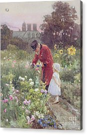 Grandads Garden Acrylic Print by Rose Maynard Barton