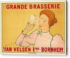 Grande Brasserie Acrylic Print by Gianfranco Weiss