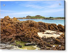 Grandes Rocques Fort - Guernsey Acrylic Print by Joana Kruse