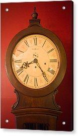 Grandfather Clock Top 1 Acrylic Print by Douglas Barnett