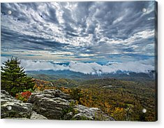 Grandfather Mountain Acrylic Print by John Haldane