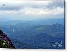 Grandfather Mountain Linville Nc Acrylic Print by Eva Thomas