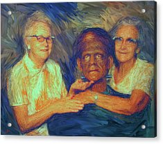 Grandma And Aunt With Frank Acrylic Print