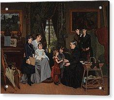 Grandmas Birthday Acrylic Print by Louis Edmond Pomey