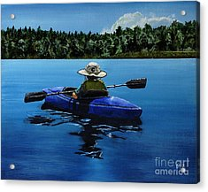 Acrylic Print featuring the painting Grandma's Cabin by Chad Berglund