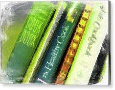 Grandma's Cookbooks Acrylic Print by Bonnie Bruno