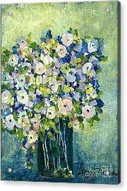 Grandma's Flowers Acrylic Print by Sherry Harradence