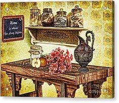 Grandma's Kitchen Acrylic Print by Mo T