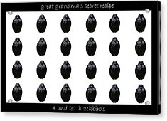Grandmas Secret Recipe Acrylic Print by Jennifer Muller