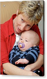 Grandmother And Baby Acrylic Print by Aj Photo/science Photo Library