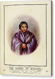 Grandmother Of The Rajah Acrylic Print by British Library
